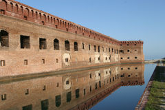 Reflection of fort jefferson Royalty Free Stock Image