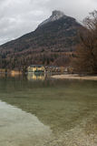 Reflection in Fuschlsee, Salzkammergut, Austria Royalty Free Stock Photography