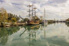 Reflection Ghost Ship. Stock Photos