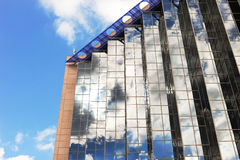 Reflection in glass building. Royalty Free Stock Photos