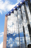 Reflection in glass building. Royalty Free Stock Photo