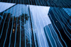 Reflection in the glass skyscrapers Royalty Free Stock Images