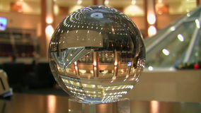 Reflection in a glass sphere stock video