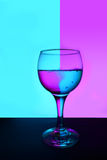 Reflection in the glass of water. Stock Image