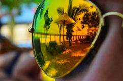 Reflection in the glasses Royalty Free Stock Photos