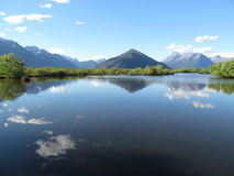 Reflection at Glenorchy Lagoon Boardwalk Stock Photos