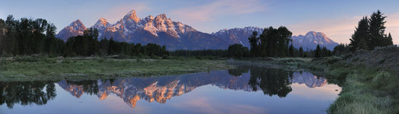 Reflection of Grand teton Stock Photography