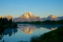 Reflection of Grand Tetons Stock Images
