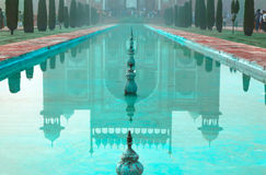 Reflection of Great gate (Darwaza-i rauza) in water Royalty Free Stock Photo