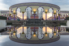 Reflection. Great mosque central java indonesia Stock Images