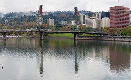 Reflection of Hawthorne on Willamette River Stock Image