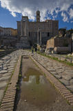 The reflection of History. The endless history of Roman Empire Stock Images