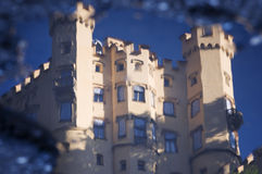 Reflection of Hohenschwangau Royalty Free Stock Photo