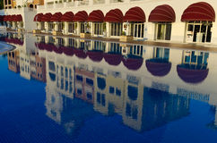 Reflection of hotel in the pool in Turkey Stock Photography