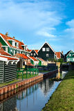 Reflection of a house in a canal of Marken Royalty Free Stock Photos