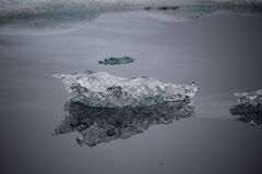 Reflection. Of ice floating on Jokulsarlon lagoon Royalty Free Stock Photo