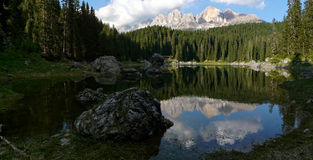 Reflection of the Italian Dolomites Royalty Free Stock Photos