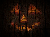 Reflection of Jack O Lantern Royalty Free Stock Images