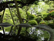 Reflection in Japanese temple Royalty Free Stock Photos