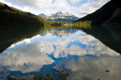 Reflection on Joffre Lake, Pemberton, British Columbia Stock Photography