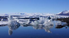 Reflection in Jokulsarlon glacier lake Royalty Free Stock Images