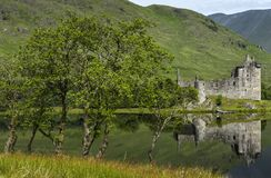Reflection of Kilchurn Castle in Loch Awe, Highlands, Scotland. Stock Photo