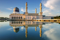 Reflection of Kota Kinabalu mosque at Sabah, Borneo Royalty Free Stock Image