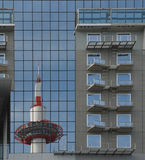 Reflection of Kyoto Tower, Kansai Royalty Free Stock Photo