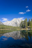 Reflection in the lake. Reflection of the Tetons in Grand Teton National Park Royalty Free Stock Photography