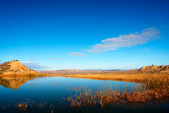 Reflection in the lake stock photography