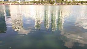 Reflection in the lake. Reflection in the lake,Bangkok Thailand stock video