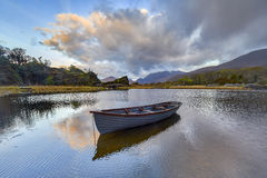 Reflection on the lake in Black Valley,Kerry,Ireland Royalty Free Stock Photo