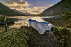 Reflection on the lake in Black Valley,Kerry,Ireland Royalty Free Stock Images