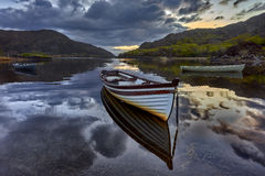 Reflection on the lake in Black Valley,Kerry,Ireland Stock Image