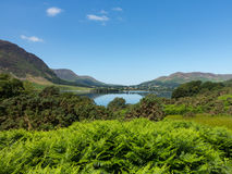 Reflection on Lake District hills in Crummock Stock Images