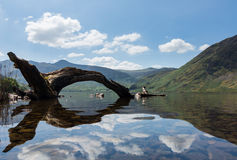 Reflection on Lake District hills in Crummock Water Stock Images