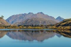 Reflection on lake Hayes Royalty Free Stock Image