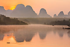 Reflection on the lake. At krabi thailand royalty free stock photos