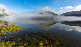 Reflection on the Lake in the morning Stock Photos