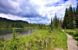 Reflection lake at Mount Rainier National Park Royalty Free Stock Photography