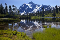 Reflection Lake Mount Shuksan Washington State Royalty Free Stock Image
