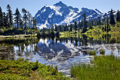 Reflection Lake Mount Shuksan Washington State royalty free stock photos