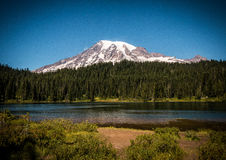 Reflection Lake - Mt. Rainier Stock Image