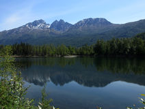Reflection Lake. Off Portage Glacier Road in Alaska royalty free stock photography