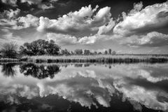 Reflection in lake. Photo of reflection in lake Royalty Free Stock Photo