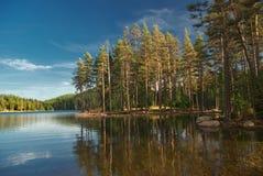 Reflection in Shiroka polyana dam Royalty Free Stock Image