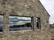 Reflection. Lake Tekapo shepherd church Stock Photo