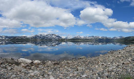Reflection in lake Tyin, Norway Royalty Free Stock Image