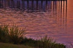 Reflection on lake water Stock Photo