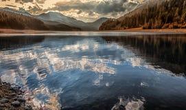 Reflection on lake Stock Image